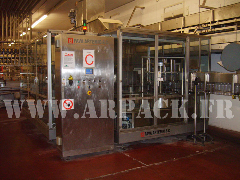 Used bottling line for PET bottles, vegetal oil