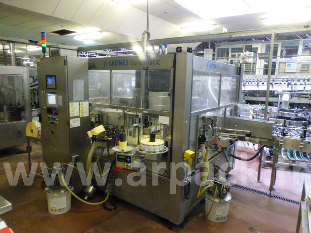 Krones labeling machine: adhesive and traditional - 10000 bottles/hour